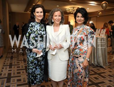 Alexandra de Borchgrave, Margaret Whitehead, Shamim Jawad. Photo by Tony Powell. 2019 AUAF Gala. Four Seasons. June 17, 2019