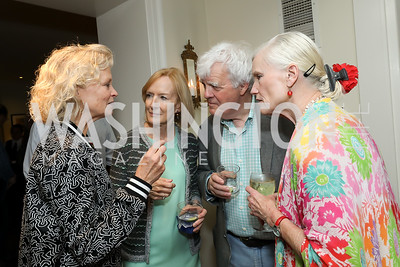 Linda Potter, Judy Woodruff, Al Hunt, Caroline Croft. Photo by Tony Powell. 2019 Gringos and Mariachis. May 5, 2019