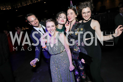 Scott Abernethy, Katelyn Manfre, Anna DiGovanni, Sara Dabney Tisdale, Rachael Montgomery. Photo by Tony Powell. 2019 Helen Hayes Awards. The Anthem. May 13, 2019