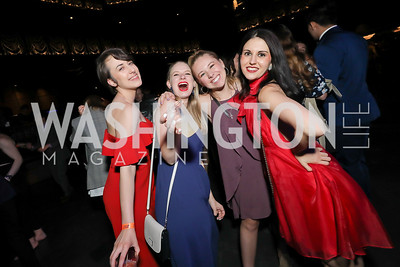 Brandi Lavigne, Skye Lindberg, Tony, Samantha Schneider, Lauren McMillen. Photo by Tony Powell. 2019 Helen Hayes Awards. The Anthem. May 13, 2019