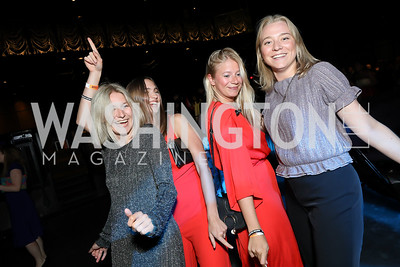 Hanna Isacsson, Runa Neely, Hanna Lodin, Matilda Lund. Photo by Tony Powell. 2019 Helen Hayes Awards. The Anthem. May 13, 2019