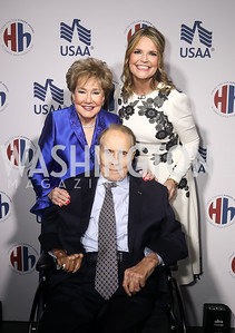 Senators Elizabeth and Bob Dole, Savannah Guthrie. Photo by Tony Powell. 2019 Heroes & History Makers. The Anthem. October 23, 2019