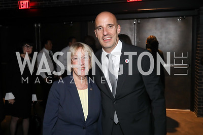 Sen. Patty Murray, Steve Schwab. Photo by Tony Powell. 2019 Heroes & History Makers. The Anthem. October 23, 2019