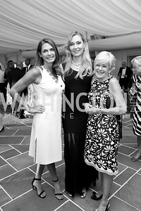 "Erika Schiller, Natalia Simonova, Susan Koehler. Photo by Tony Powell. 2019 Hillwood ""Black & White"" Gala. June 4, 2019"