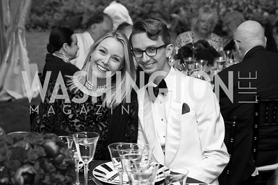 "Leah and Cole Rumbough. Photo by Tony Powell. 2019 Hillwood ""Black & White"" Gala. June 4, 2019"