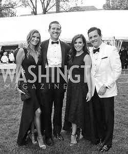"Stacy Hadeka, Jack Corba, Nikole Rucker, Davey Ahearn. Photo by Tony Powell. 2019 Hillwood ""Black & White"" Gala. June 4, 2019"