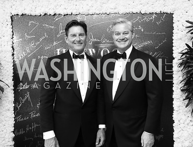 "Joe Ruzzo and Mark Lowham. Photo by Tony Powell. 2019 Hillwood ""Black & White"" Gala. June 4, 2019"
