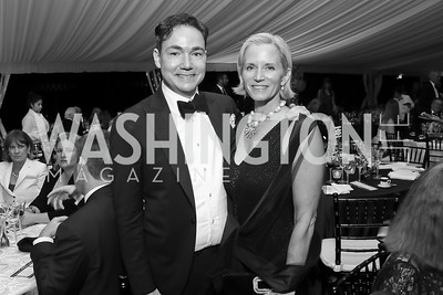 "Josh Hildreth, Shannon Stichman. Photo by Tony Powell. 2019 Hillwood ""Black & White"" Gala. June 4, 2019"