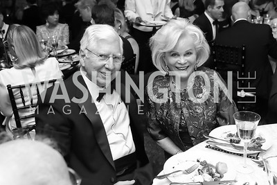"William Ingersoll, Nancy Marriott. Photo by Tony Powell. 2019 Hillwood ""Black & White"" Gala. June 4, 2019"
