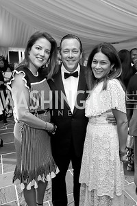 "Nina and Doug Boggs, Sara O'Keefe. Photo by Tony Powell. 2019 Hillwood ""Black & White"" Gala. June 4, 2019"