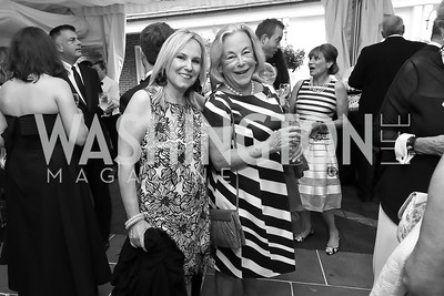 "Olwen Pongrace, Betsy Kleeblatt. Photo by Tony Powell. 2019 Hillwood ""Black & White"" Gala. June 4, 2019"