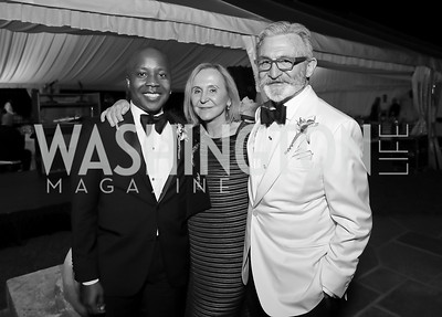 "Carl Davis, Titina DeMontagut, Joe Perta. Photo by Tony Powell. 2019 Hillwood ""Black & White"" Gala. June 4, 2019"