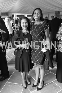 "Gail West and Hilary West. Photo by Tony Powell. 2019 Hillwood ""Black & White"" Gala. June 4, 2019"