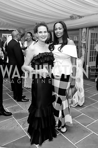 "Colleen Harkins Carter, Trian Johnson. Photo by Tony Powell. 2019 Hillwood ""Black & White"" Gala. June 4, 2019"
