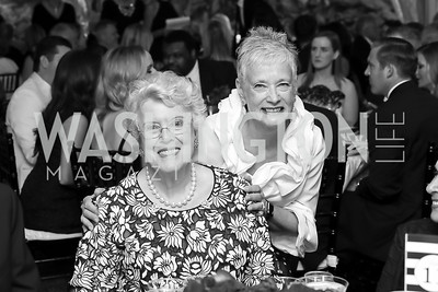 "Ellen Charles, Kate Markert. Photo by Tony Powell. 2019 Hillwood ""Black & White"" Gala. June 4, 2019"