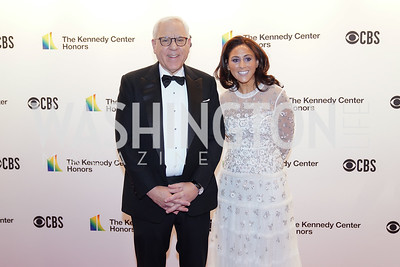 "David Rubenstein and duaghter Gabrielle ""Ellie"" Rubenstein. Photo by Tony Powell. 2019 Kennedy Center Honors. December 8, 2019"