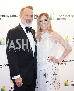 Tom Hanks and Rita Wilson. Photo by Tony Powell. 2019 Kennedy Center Honors. December 8, 2019