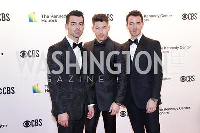 Joe Jonas, Nick Jonas and Kevin Jonas. Photo by Tony Powell. 2019 Kennedy Center Honors. December 8, 2019
