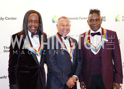 Verdine White, Ralph Johnson and Philip Bailey. Photo by Tony Powell. 2019 Kennedy Center Honors. December 8, 2019