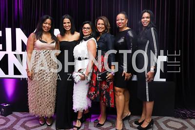 Michelle Rice, Kenya Pierce, Marcia Dyson, Lesli Foster, Nicole Venable, Marie Sylla Dixon. Photo by Tony Powell. 2019 Knock Out Abuse. November 7, 2019