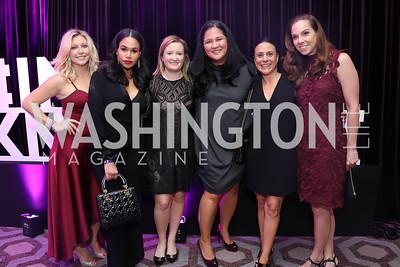 Shannon Hettinger, Chena Bolton, Courtney Abrams, Trish Yan, Claudia Vitale, Melanie Hayes. Photo by Tony Powell. 2019 Knock Out Abuse. November 7, 2019