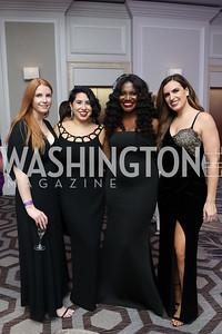 Grace Cutts, Ashley Arias, Aba Kwawu, Erin Como. Photo by Tony Powell. 2019 Knock Out Abuse. November 7, 2019