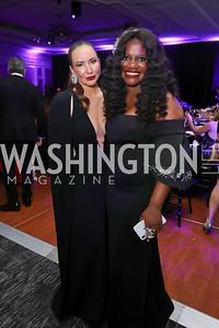 Gala Chairs Tara Engel and Aba Kwawu. Photo by Tony Powell. 2019 Knock Out Abuse. November 7, 2019
