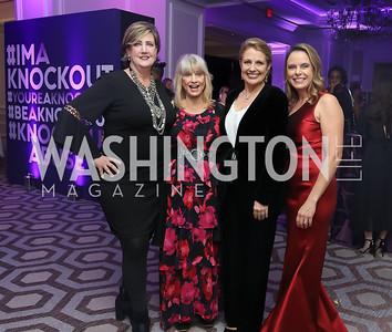 Nina Doherty, Joy Runyon, Rebecca Cooper, Robyn Bash. Photo by Tony Powell. 2019 Knock Out Abuse. November 7, 2019