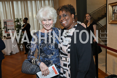 Michelle Edwards, Diane Rehm. Photo by Tony Powell. Live It Learn It Spring Celebration. Kreeger Museum. May 2, 2019