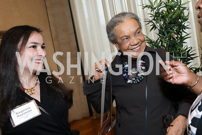 Angelica Guerrero, Marian Wright Edelman. Photo by Tony Powell. Live It Learn It Spring Celebration. Kreeger Museum. May 2, 2019