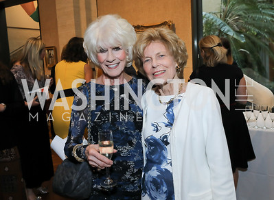 Diane Rehm, Bitsey Folger. Photo by Tony Powell. Live It Learn It Spring Celebration. Kreeger Museum. May 2, 2019