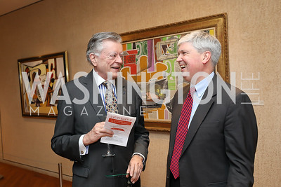 Former Finland Amb. Jukka Valtasaari, Neil Folger. Photo by Tony Powell. Live It Learn It Spring Celebration. Kreeger Museum. May 2, 2019