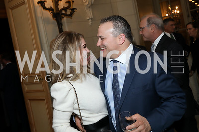 Janine and Josh Waxman. Photo by Tony Powell. 2019 Luxury Alliance Year-End Reception. Meridian International Center. December 3, 2019