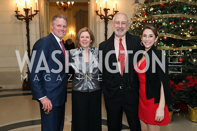 Long & Foster President & CEO Jeff Detwiler, Rima and George Tannous, Layla Tannous. Photo by Tony Powell. 2019 Luxury Alliance Year-End Reception. Meridian International Center. December 3, 2019