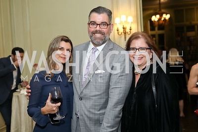 Anna Mackler, Boomer Foster, Christine Rich. Photo by Tony Powell. 2019 Luxury Alliance Year-End Reception. Meridian International Center. December 3, 2019