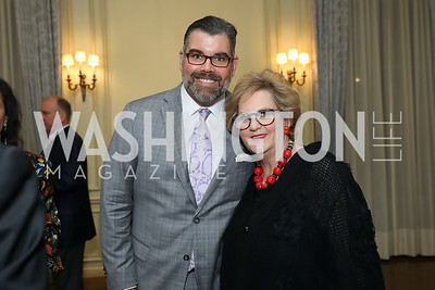 Boomer Foster, Martha Slagle. Photo by Tony Powell. 2019 Luxury Alliance Year-End Reception. Meridian International Center. December 3, 2019