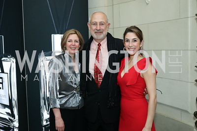 Rima, George and Layla Tannous. Photo by Tony Powell. 2019 Luxury Alliance Year-End Reception. Meridian International Center. December 3, 2019