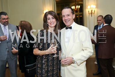 Theresa Valencic, John Mentis. Photo by Tony Powell. 2019 Luxury Alliance Year-End Reception. Meridian International Center. December 3, 2019