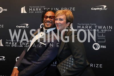 Q-Tip, Deborah Rutter. Photo by Tony Powell. 2019 Mark Twain Prize. Kennedy Center. October 27, 2019