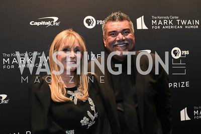 Iris Smith, George Lopez. Photo by Tony Powell. 2019 Mark Twain Prize. Kennedy Center. October 27, 2019
