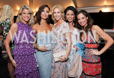 Callie Nierenberg, Lily Talakoub, Ellie Christiansen, Angie Goff, Priscilla Stanzel. Photo by Tony Powell. 2019 McLean Project for the Arts Spring Benefit. The Falls. May 16, 2019