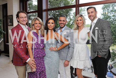 Brad and Callie Nierenberg, Lily Talakoub and Pouyan Lotfi, Elizabeth and Alex Smith. Photo by Tony Powell. 2019 McLean Project for the Arts Spring Benefit. The Falls. May 16, 2019
