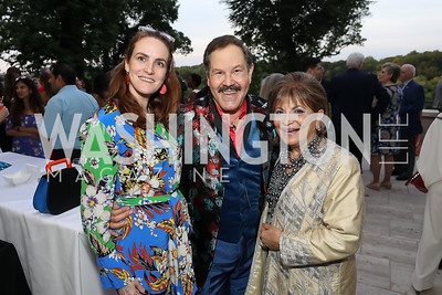 Kate Goodall, Jose Alberto Ucles, Annie Totah. Photo by Tony Powell. 2019 McLean Project for the Arts Spring Benefit. The Falls. May 16, 2019