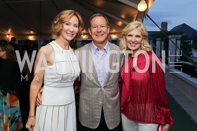 Anne Jacoboski, Alan and Ashley Dabbiere. Photo by Tony Powell. 2019 McLean Project for the Arts Spring Benefit. The Falls. May 16, 2019