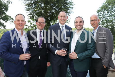 Ray Kimsey, Russell Firestone, Joe Hall, Harrison Boxbaum, Michael Kimsey. Photo by Tony Powell. 2019 McLean Project for the Arts Spring Benefit. The Falls. May 16, 2019