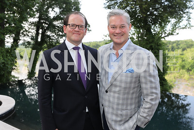 Russell Firestone, Mark Lowham. Photo by Tony Powell. 2019 McLean Project for the Arts Spring Benefit. The Falls. May 16, 2019