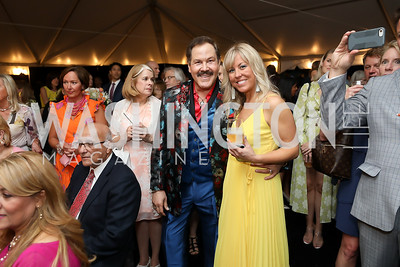 Jose Alberto Ucles, Maggie O'Neill. Photo by Tony Powell. 2019 McLean Project for the Arts Spring Benefit. The Falls. May 16, 2019