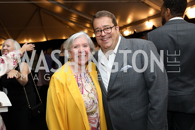 Leah Gansler, George Swygert. Photo by Tony Powell. 2019 McLean Project for the Arts Spring Benefit. The Falls. May 16, 2019