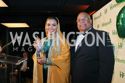 HH Princess Sora Saud, LaMont Wells. Photo by Tony Powell. 2019 Mentor Foundation Gala. House of Sweden. November 15, 2019