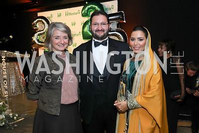 Sweden Amb. Karin Olofsdotter, HRH Abdulaziz bin Talal bin Abdulaziz Al Saud and HH Princess Sora Saud. Photo by Tony Powell. 2019 Mentor Foundation Gala. House of Sweden. November 15, 2019